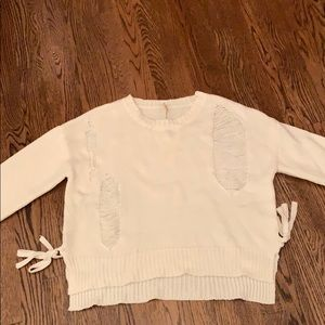 White sweater size s